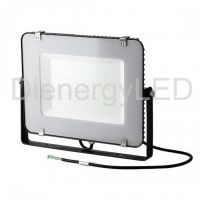 LED Floodlight SMD 150W SAMSUNG Chip Slim Black Body 6400K 120 lm/Watt