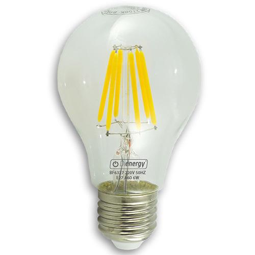 Bec LED 6W, 220V, E27, lumină albă caldă