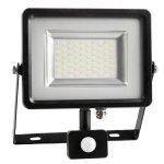20W Proiector LED cu Senzor Corp Negru/Gri SMD 6000K