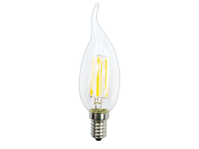 Bec LED E14, 4W, 220V, lumanare, alb cald