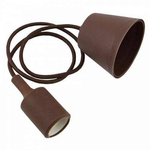 e27 pendant brown