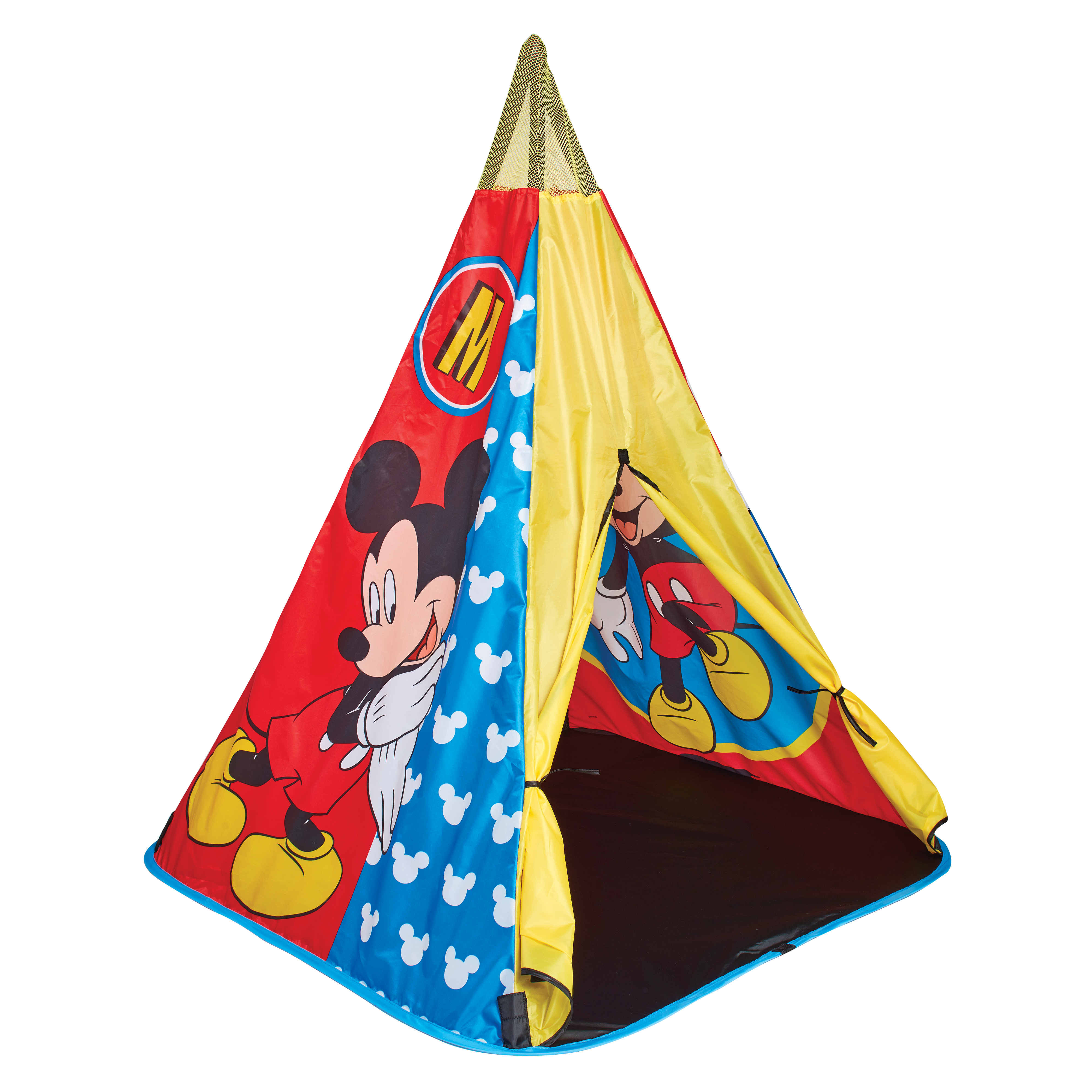 150MIYLead Product ImageMickey Mouse Tee Pee Play Tent