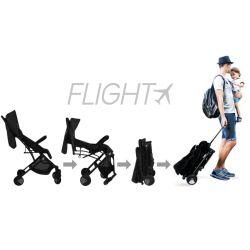 Carucior Asalvo sport, modul Troller-transport pe avion negru-rosu