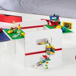Cutie depozitare pentru jucarii cu display pentru constructii Lego