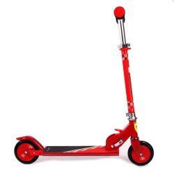 Trotineta pliabila Ferrari pentru copii cu roti 120 mm, rosie