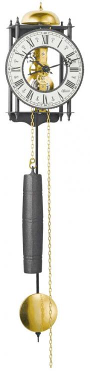 Ceas de perete cu pendul Hermle tip Skeleton 70974-000711 Negru 62x15 cm