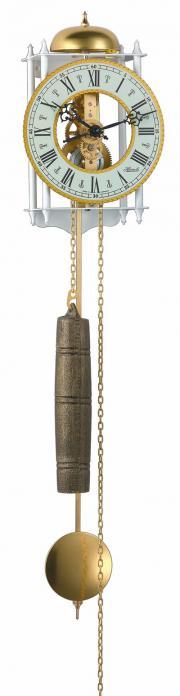 Pendula de perete Hermle, tip Skeleton 70733-000711 Alb 62x15 cm