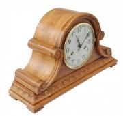 Ceas de birou mecanic Adler 7204-2 Stejar 28x47 cm