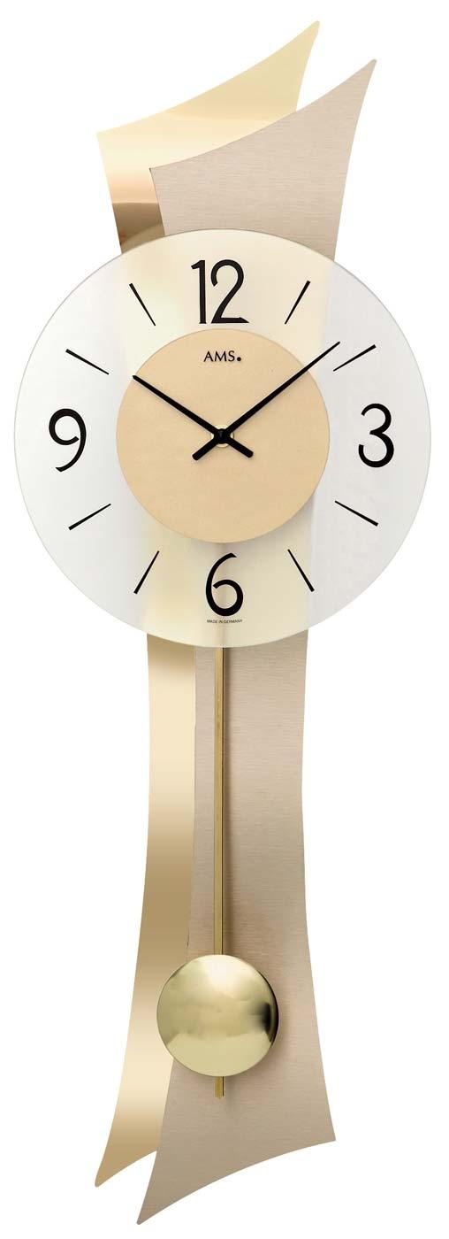 Ceas cu pendul AMS 7427, 70x23cm