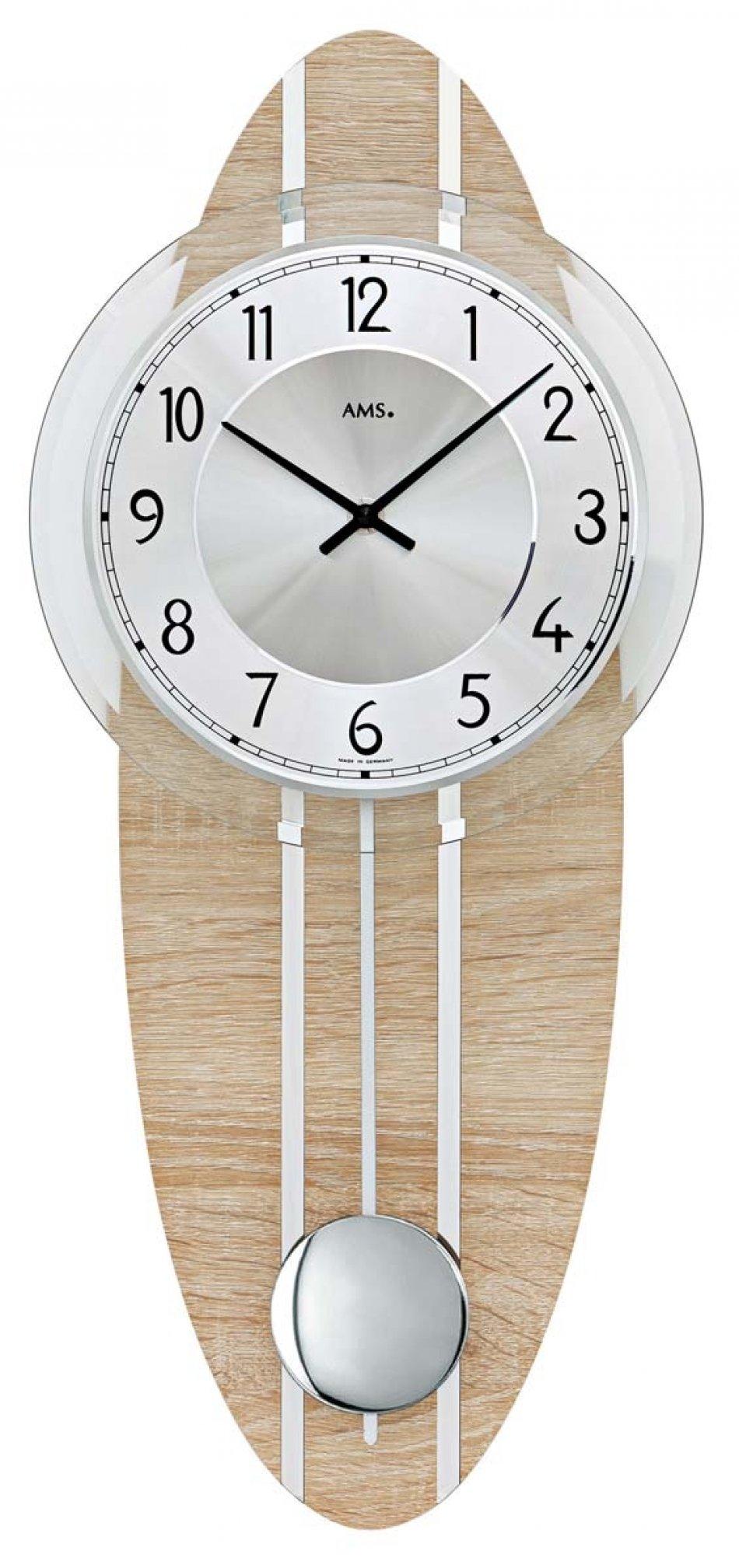 Ceas de perete AMS 7420 Stejar Sonoma 54x23 cm