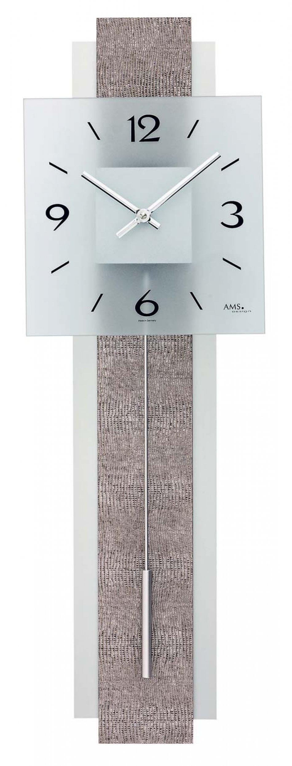 Ceas cu pendula AMS 7323, 68x22 cm