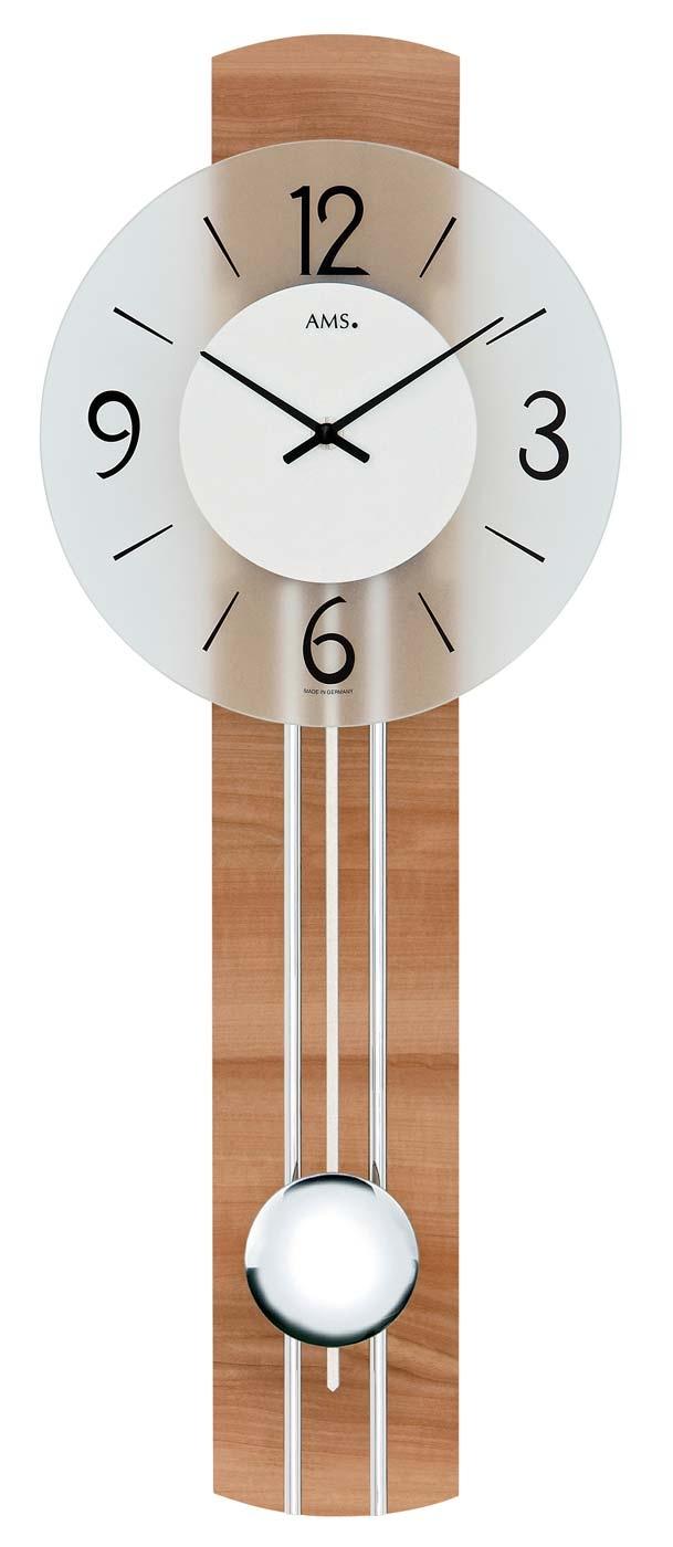 Ceas cu pendul AMS 7263, 60x23cm