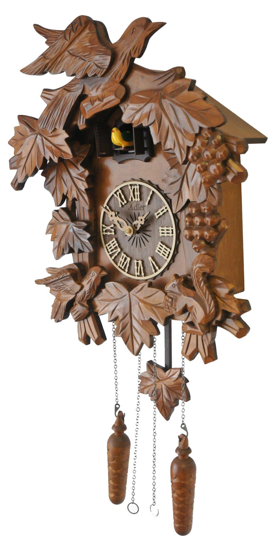 Ceas cu cuc din lemn masiv Adler