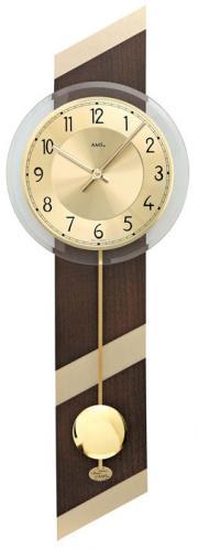 Ceas de perete cu pendul AMS 7412 Quartz 69x23 cm