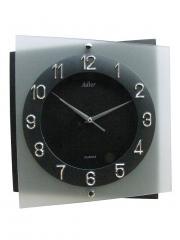 Ceas de perete din sticla Adler 5115 Antracit