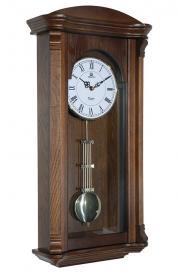 Pendula de perete Merion cu melodie Westminster 6728-1 Nuc 61x30 cm