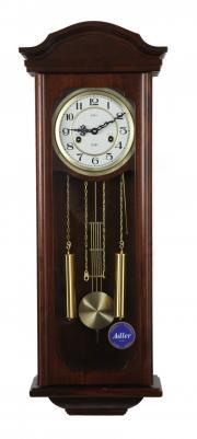 Ceas de perete mecanic cu arcuri Adler 7176-1 Nuc 87x32 cm