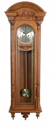 Ceas de perete mecanic Adler 7122-2 Stejar, 145 cm