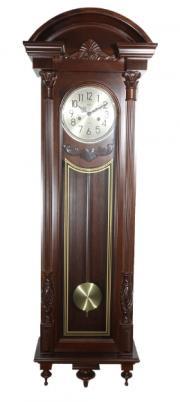Ceas de perete mecanic cu pendul Adler 7122-1, 145 cm, Nuc