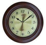 Ceas de perete rotund Adler 28 cm, lemn 51147-1