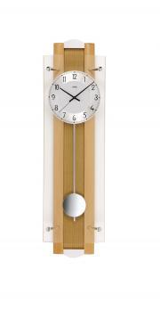 Ceas de perete cu pendula AMS Radio control F5259/18