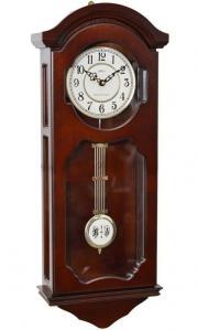 Pendula de perete Adler cu melodie Westminster 7040-1 Nuc 68x27 cm