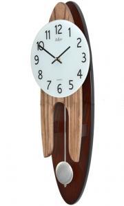 Ceas de perete cu pendul Adler Quartz 7233 Nuc 60x22 cm