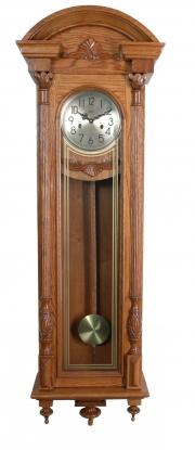 Ceas cu pendul mecanic din lemn masiv Adler 7122-2 Stejar 145x47 cm