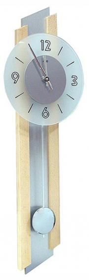 Ceas de perete cu pendula AMS 7207/18