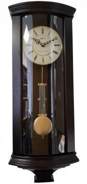 Pendula de perete Adler cu 3 melodii 7237-1 Nuc 66x25.5 cm