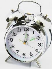 Ceas alarma Adler mecanic 3501-1 Argintiu 16.5x11.5 cm