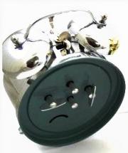 Ceas alarma Adler mecanic 3502-1 Argintiu 13x10 cm
