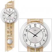 Ceas de perete cu pendula AMS W7423 67x23 cm