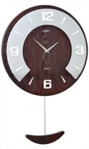 Ceas de perete decorativ cu pendul - Adler 7179 nuc 53x34 cm