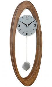 Ceas de perete cu pendul, lemn stejar Adler 7234-0 63x23 cm