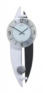 Ceas de perete cu pendul Adler 7235-1 Alb-Negru 62x22 cm