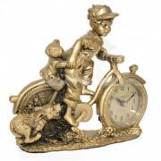 Ceas de birou cu figurina Adler 8132G 21x19 cm