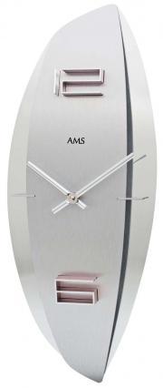 Ceas de perete din sticla si aluminiu AMS 9602
