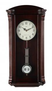 Pendula de perete Adler cu melodie Westminster 7008-1 Nuc 61x30 cm