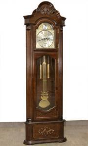 Ceas de podea de colt, Adler 206x63x26 cm, lemn masiv