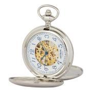 Ceas de buzunar mecanic Astron 5368-1 argintiu, cadran cu cifre arabe