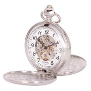 Ceas de buzunar mecanic Astron 8502-1, cifre arabe, carcasa argintie