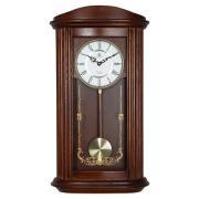 Ceas de perete cu pendul, quartz, cu melodie Westminster, carcasă lemn masiv 6703-9