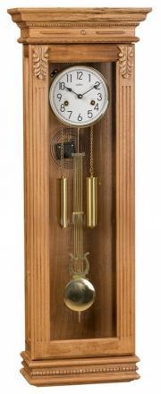 Ceas de perete mecanic Adler 7100-2 Stejar 100x35 cm