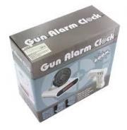 Ceas desteptator cu pistol Infrarosu pentru oprire alarma, Afisaj LCD, APT-AG642 ALB