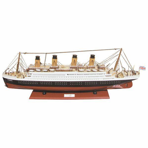 Nava Titanic din lemn pe suport 80x29cm 5164