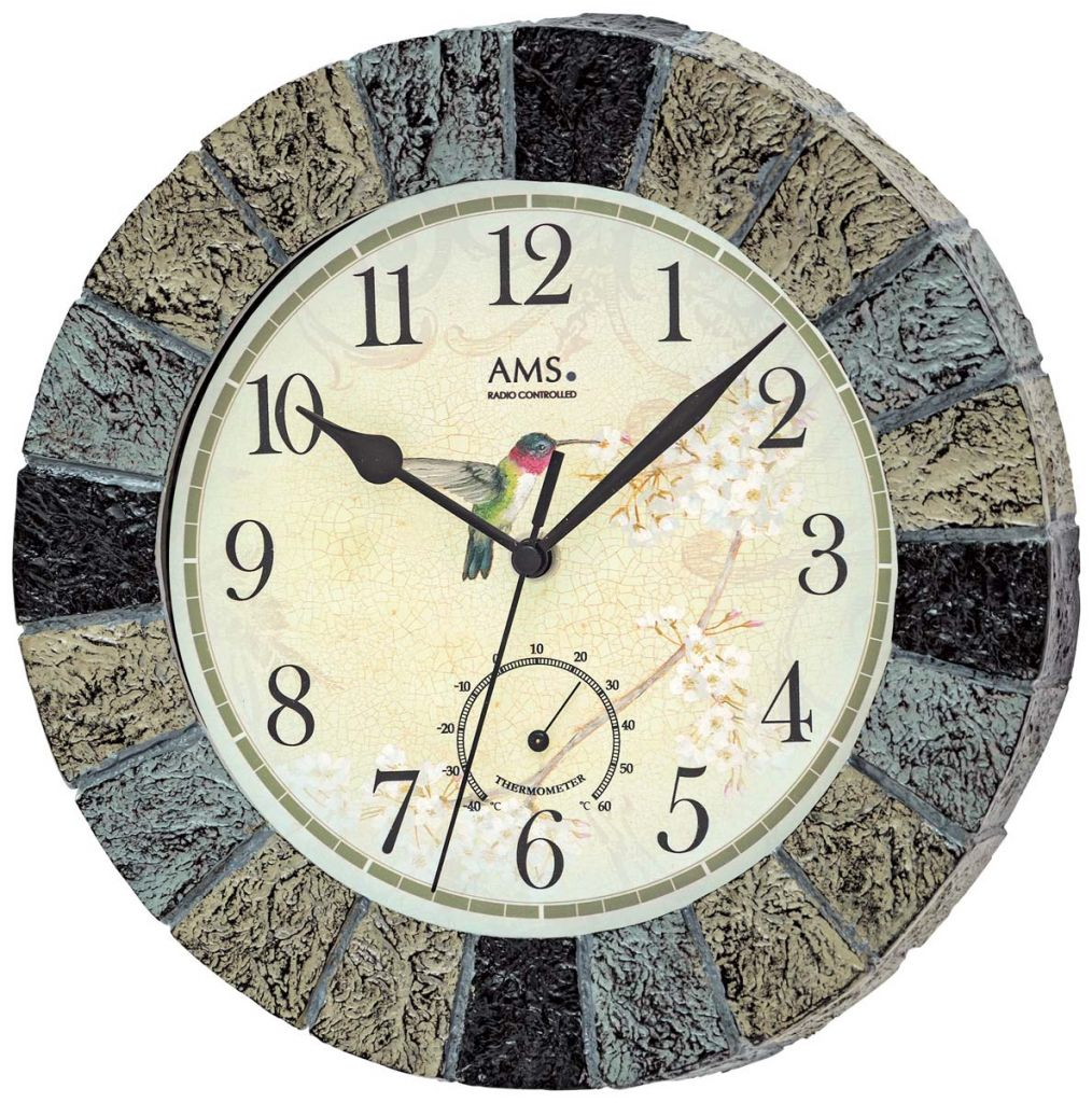 Ceas de perete AMS 5979 interior-exterior, 26cm