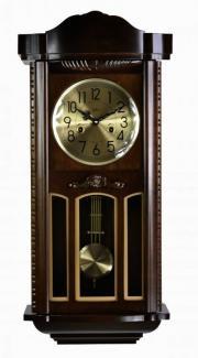 Ceas de perete mecanic cu arcuri - Adler,  Nuc 77 cm 7102-1