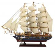 Vas din lemn cu vele de panza 47x41cm 5054