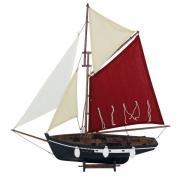 Barca de pescuit din lemn cu vele 58x66cm 5127